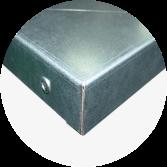 Blat wykonany ze sklejki liściastej obłożony blachą stalową ocynkowaną grubości 1,0 mm