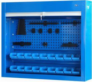 Gablota narzędziowa zamykana roletą na 18 pojemników P2 - P-4-03-04