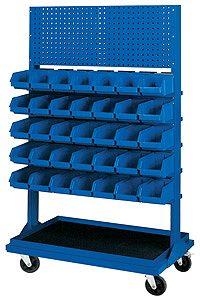 Stojak z kratownicą i 5 listwami na 35 pojemników P3 (jednostronny) - P-5-01-02
