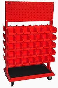 Stojak z kratownicą i 10 listwami na 70 pojemników P3 (dwustronny) - P-5-02-02