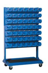 Stojak narzędziowy z 14 listwami na 98 pojemników P3 (dwustronny) - P-5-04-02