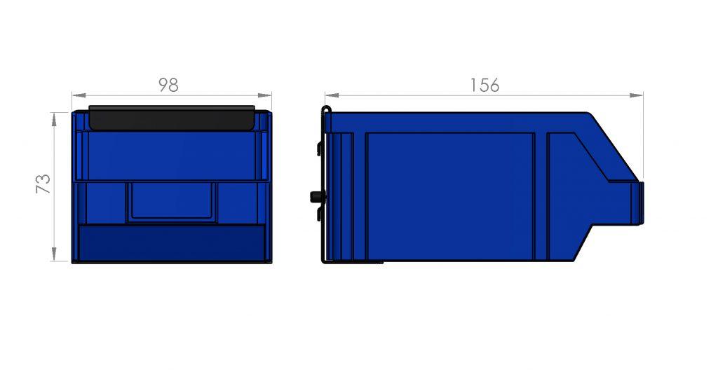 Zawieszka na pojemnik P2 98 x 156 x 73 - ZW-P2