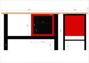 Stół warsztatowy (szer. blatu 1400mm) - N-3-07-01
