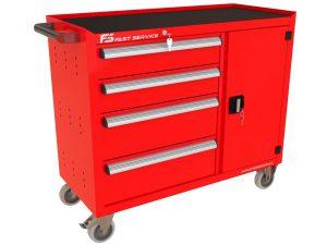 Wózek warsztatowy TRUCK z 4 szufladami i drzwiami PT-223-40