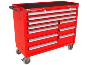 Wózek warsztatowy TRUCK z 10 szufladami PT-273-77
