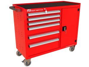 Wózek warsztatowy TRUCK z 6 szufladami i drzwiami PT-220-40