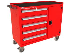Wózek warsztatowy TRUCK z 5 szufladami i drzwiami PT-215-40