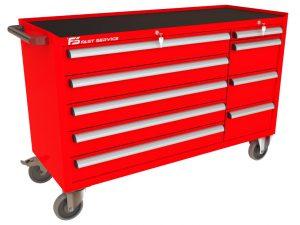 Wózek warsztatowy MEGA z 9 szufladami PM-215-18