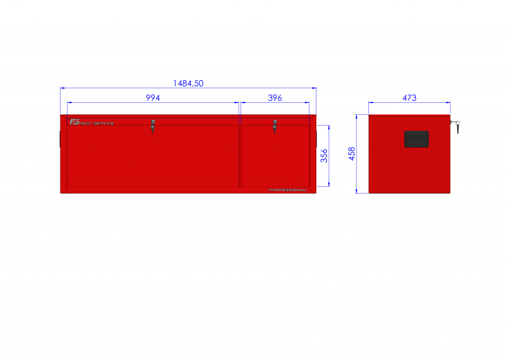 Nadstawka wózka MEGA z 4 szufladami PNM-154-54