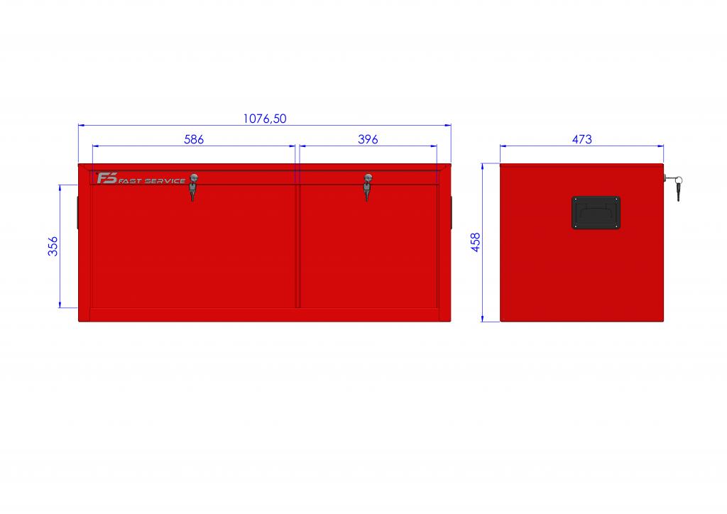 Nadstawka wózka TRUCK z 5 szufladami PNT-153-54