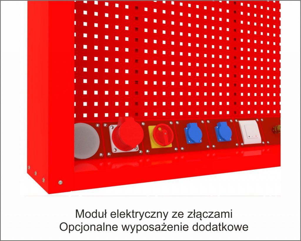moduł elektryczny ze złączami do gabloty